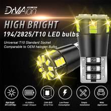 2 pces t10 w5w led canbus luz decodificar anti-cintilação erro livre 24 smd 3014 mini lâmpada luz interior para bmw benz