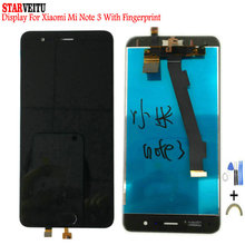 5.5Original LCD For Xiaomi Note 3 LCD Display Touch Screen with Fingerprint For Mi Note 3 Replacement 10 Touch LCD Digitizer original lcd with touch for symbol mc67 mc55a0