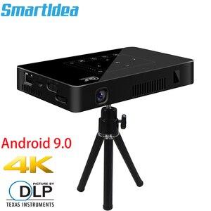 Image 1 - Smartldea P10 미니 스마트 DLP 프로젝터 안드로이드 9.0 wifi 비머 블루투스 4K 내장 배터리 터치 키 Airplay Miracast DLNA