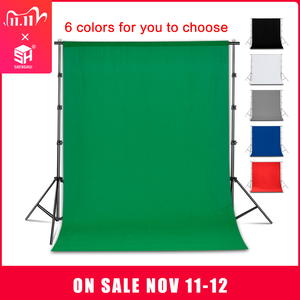 Image 1 - Photography Background Backdrop Smooth Muslin Cotton Green Screen Chromakey Cromakey Background Cloth For Photo Studio Video