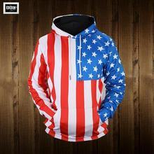 Весна осень хип-хоп пуловеры унисекс 3D печать толстовки Мужчины Женщины американский флаг толстовка мода пары ностальгических уличной