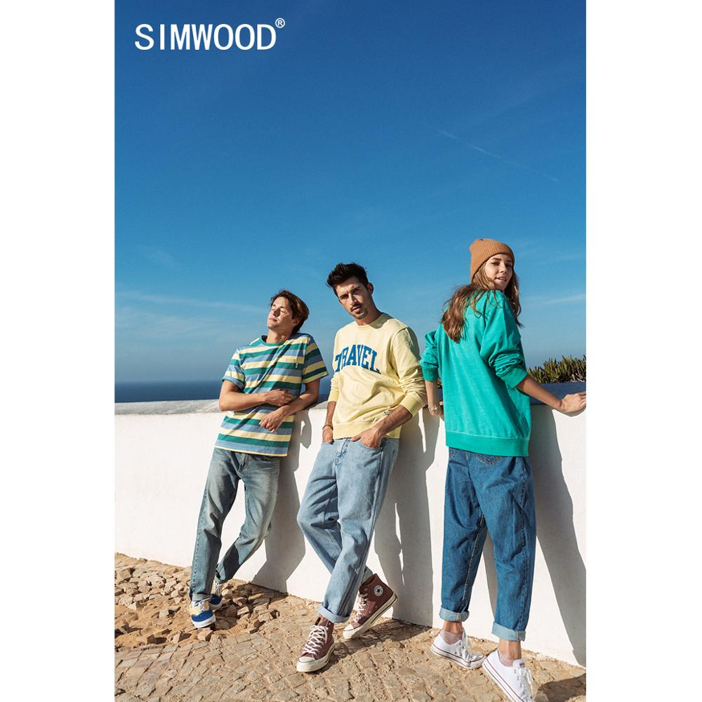SIMWOOD 2020 spring new hoodies men letter print sweatshirts jogger track suits plus size brand clothing SJ130153