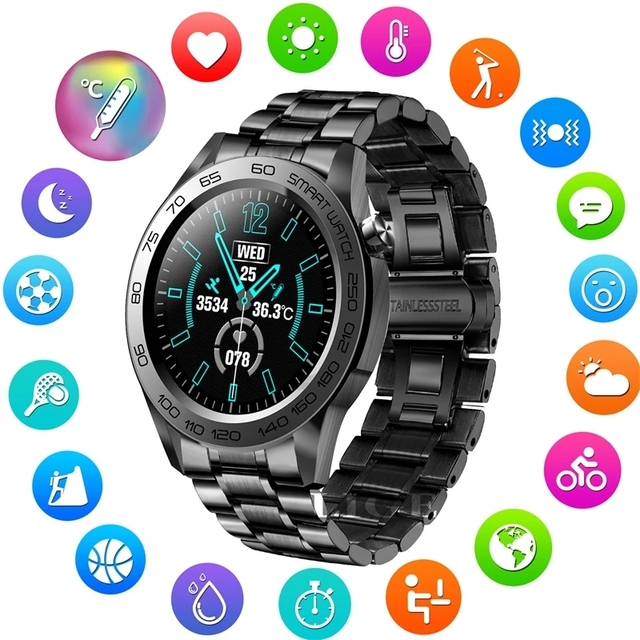 LIGE New Sports Smart Watch Men Fitness Tracker Full Touch Smart Bracelet Woman Temperature Monitor Smartwatch For Android IOS 1