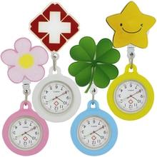 Милый 3D мультфильм животных выдвижной медсестры доктор медицинские карманные часы легко тянуть пряжки больницы унисекс кварцевые Висячие часы