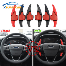 Xburstcar for Ford Focus 4 MK4 2019 2020 2Pcs/Set ABS Chrome Car Steering Wheel Paddle Extension Shifters Shift Sticker