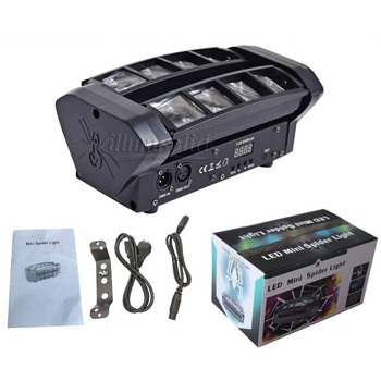 Vente Chaude Mini Tête Mobile DMX 512 Araignée Lumière Bon Pour DJ Discothèque Fête