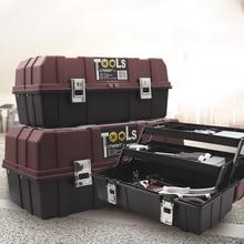 Stackable Plastic Tool Case Compact Organiser Portable Tool Kit with Storage Case Repair Tool Porta Attrezzi Home Repair DK50TB