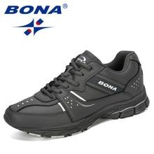 Bona 2019 새로운 디자이너 암소 분할 운동화 야외 스포츠 신발 남성 운동화 신발 운동 훈련 신발 남자 comfortabe