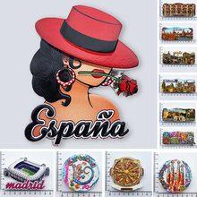 Espanha madrid ímãs de geladeira lembrança turística cordobam barcelona sevilla toledo geladeira magnética adesivos coleção presentes