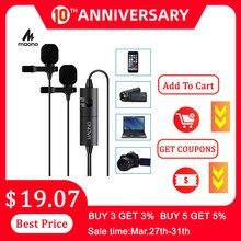 MAONO AU-200 Dual Lavalier-mikrofon Freisprecheinrichtung Clip-auf Revers Mikrofon Kragen Kondensator Mic für Kamera DSLR Telefon PC Laptop
