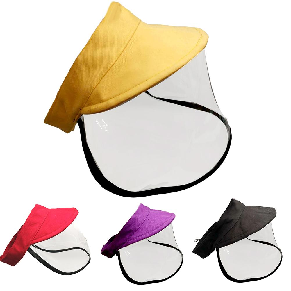 Kid Adjustable Anti Saliva Droplet Safety Health Protection Sun Protection Face Shield Visor Cap Sunhat Sunscreen Fisherman Cap
