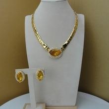 Yuminglai Designer Jewelry Dubai Costume Jewelry Sets Unique Stones FHK7521