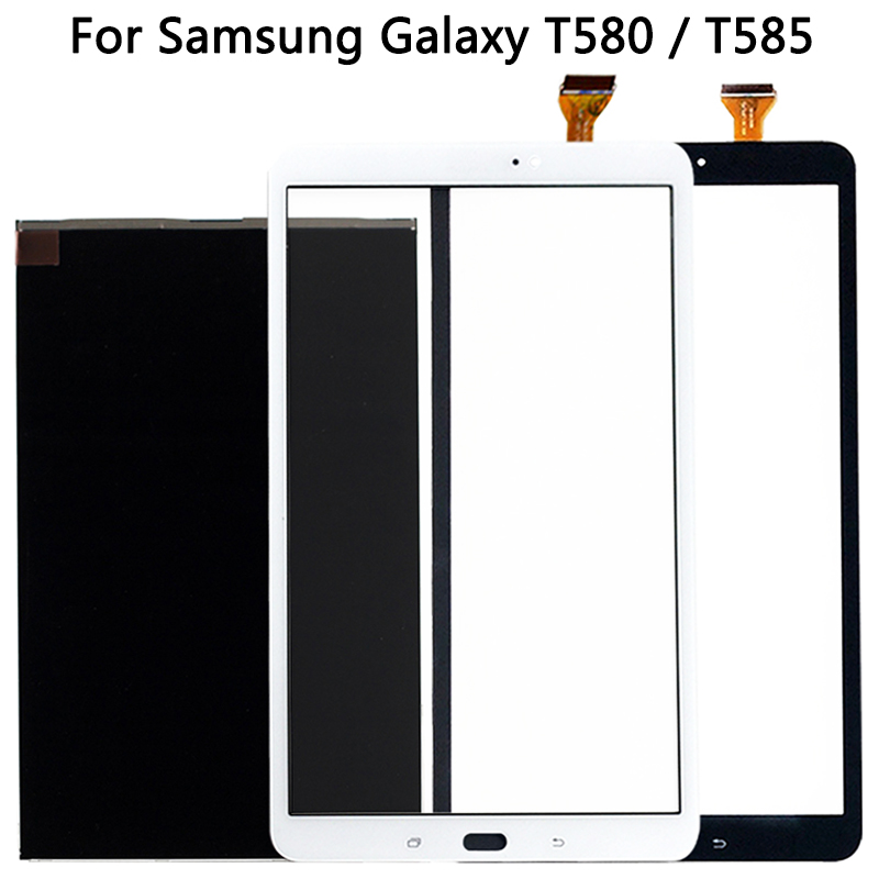 New Touchscreen For Samsung Galaxy Tab A 10.1 SM-T585 T580 Touch Screen Panel Digitizer Sensor LCD Display  Front Glass