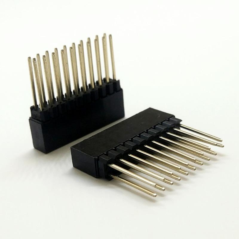50Pcs 2.54mm Pitch 2x32 Pin 64 Pin Female Double Row Long Pin Header Strip PC104
