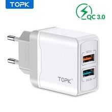 TOPK B244 Quick Charge 3,0 18W USB Ladegerät für iPhone Xs X 8 7 Schnelle Handy ladegerät für Samsung xiaomi Wand Ladegerät EU