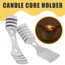Металлические фитинги для свечей, домашний декор, долговечное устройство для свечей, центрирующая рамка, вкладки, инструмент, сделай сам, принадлежности, фиксированный держатель