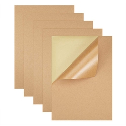 200 Sheets / Batch A4 Size Blank Kraft Paper Sticker / Self-Adhesive A4 Kraft Paper Label Paper for Inkjet Printer Packaging