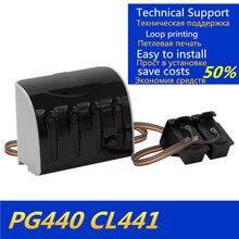 PG 440 CL 441Ink ระบบ Full Ink CISS PG440 XL441 XL สำหรับ Canon PIXMA MX374 MX394 MX434 MX454 MX474 MG3640