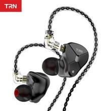 TRN BA5 10BA sürücü birimi kulak kulaklık 10 dengeli Amarture HIFI DJ monitör kulaklık kulakiçi ile QDC kablo TRN V80 v90 T200