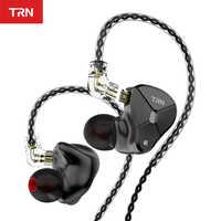 TRN BA5 10BA Driver Unit In Ear Earphone 10 Balanced Amarture HIFI DJ Monitor Earphone Earbuds With QDC Cable TRN V80 V90 T200