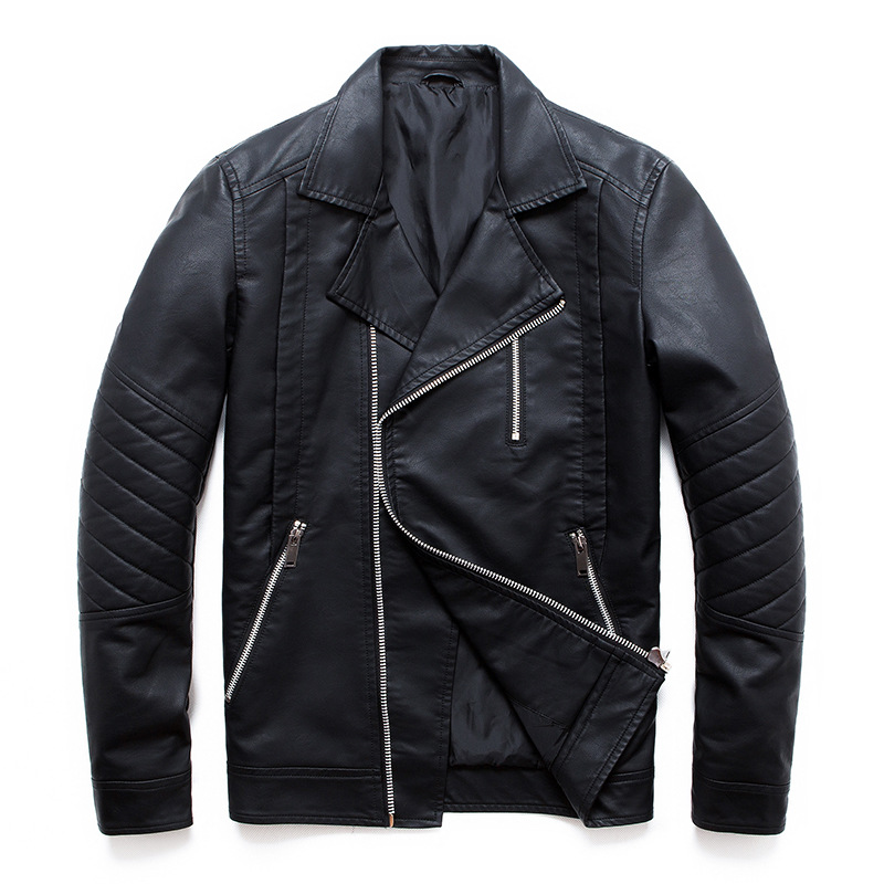 New Boutique Punk Leather Jacket Men Multi Zipper Motorcycle Leather Jackets Coats Slim Fit Men PU Clothing M-5XL
