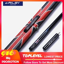 Asli Riley RMA-200 3/4 Snooker Cue Profesional Billiard Cue Kit Tongkat dengan Case dengan Riley Kabel 9.5 Mm Tip Riley isyarat(China)
