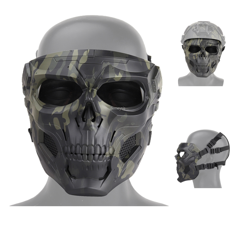 Airsoft Paintball Tactical Skull Mask Outdoor Sports Breathable Comfortable Shooting Hunting Mask Men Women Nylon Military Masks