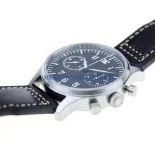 Sapphire Glass German Style Fieger Mechanical Seagull Movement Chronograh Pilot