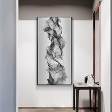 Абстрактная настенная Картина на холсте с длинными черными и