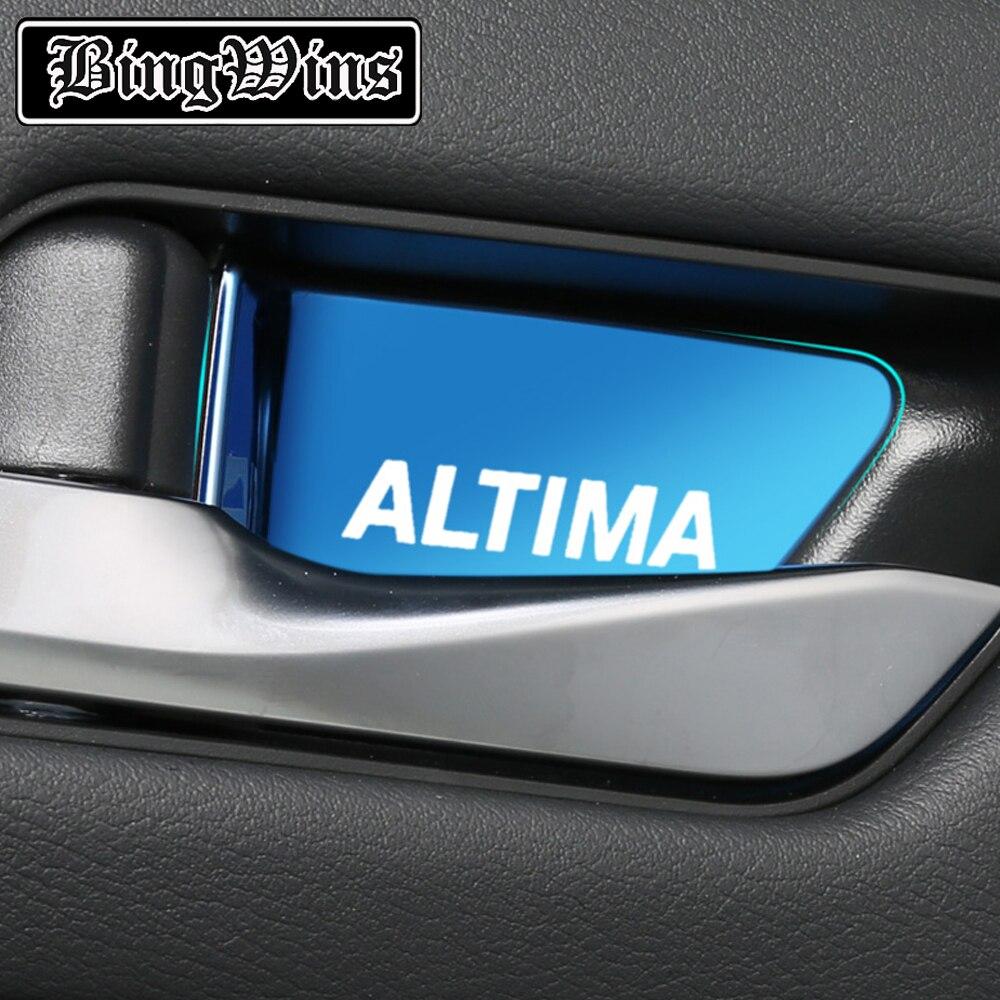 Автомобильный Стайлинг для 2019 2020 Nissan Teana внутренняя дверная чаша патч ручка внутренняя отделка аксессуары авто принадлежности