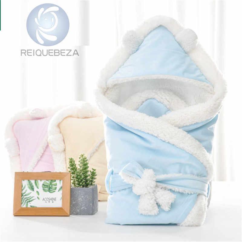 חורף תינוק לעטוף החתלה שמיכת שכבה כפולה צמר חם רך החתלה שק שינה לתינוקות תינוק יוניסקס בגדי שמיכה