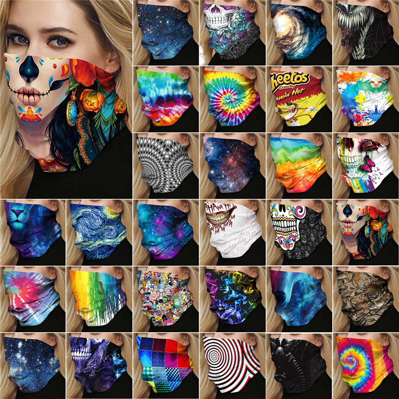 3D cosplay anime 25*50cm face breathable neck scarf 2020 Newest print face-guard unisex men women fashion cosplays accessory 1
