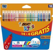 BIC – stylo à peinture feutre de Couleur pour enfants, Ultra lavable, 14 + 4 couleurs