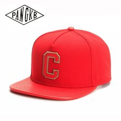 PANGKB Brand CEE SOLID CAP red C girl and boy hip hop snapback hat for men women adult outdoor casual sun baseball cap bone