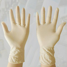 100PCS Disposable Latex Medical Gloves Cleaning Universal Work Finger Household Food Latex Gloves For Safety Cream