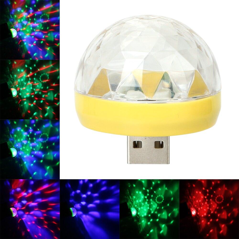 USB Club Disco Magic Stage Effect Lights Auto Interior Lights Car-styling DJ RGB Lamp Decorative Lamp Car LED Atmosphere Lights
