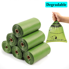 15 piece a roll Biodegradable Dog Poop Bags Earth-Friendly Disposable dog waste bags  use for packing poop