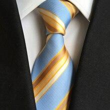 Classic 8cm Ties for Man Striped Silk Tie Business Neck Tie for Men Suit Cravat Wedding Party Neckties Fashion Men Necktie Gifts 7 5cm necktie business silk ties for men tie 2019 new arrival men s ties pattern black men wedding neckties