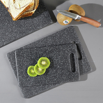 New 1pc Plastic Cutting Board PP  Environmental Kitchen Chopping Board Unique Marble Appearance Design Dishwasher Safe antibacterial chopping board multifunction pp plastic heat resistant dishwasher blocks cutting boards kitchen tools