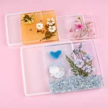 DIY Coaster reçine kalıp kare dikdörtgen şekli silikon kalıplar epoksi UV reçine zanaat ev dekorasyon takı yapımı araçları