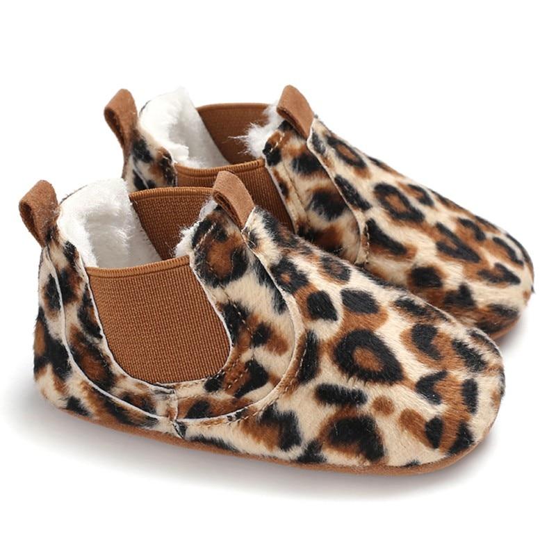 2019 bébé chaussures en cuir PU enfant en bas âge mocassins imprimé léopard bébé chaussure antidérapant premiers marcheurs chaussures pour nouveau-né garçons filles 3