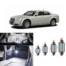 Luz LED blanca para coche, lámpara de techo con bombilla para placa de matrícula, para Chrysler 300, 300C, 2005-2009, 2010, 11 Uds.