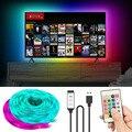 2 м 3 м 5 м USB Светодиодные ленты светильник 5050 Светодиодная лампа лента RGB 10 м ТВ Настольный Экран задняя светильник Диодная лента