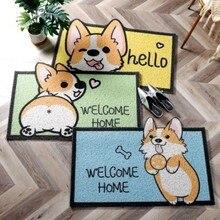 Felpudo de bienvenida para entrada, pasillo, rectángulo impreso, antideslizante, para puerta Delantera, para exteriores, dormitorio y cocina