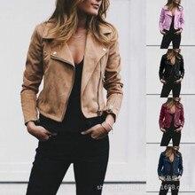 Spring Plus Size Women Jacket Multicolor Long Sleeve Casual Fashion Lapel Short Jacket Ladies Basic Zipper Streetwear Overcoat