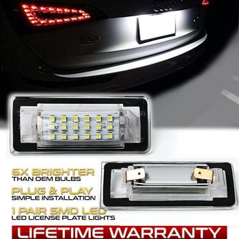 цена на 2pcs For AUDI TT MK1 8N Roadster 8N9 Coupe 8N3 LED License Plate Lights 12V White 6500K Number Lamps Car Accessories