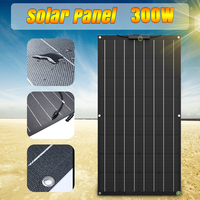 Solar Panel 300W 12V Battery Charger Solar Cell Power System Kit Complete Flexible Portable A Monocrystalline Rechargeable Car