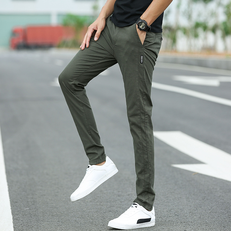 2019 New Casual Mens Business Male Trousers Classics Mid Waist Straight Full Length Men Pants