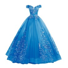Ball-Gown Quinceanera-Dresses Prom-Dress Lace Applique Vestidos Party 10-Colors Embroidery