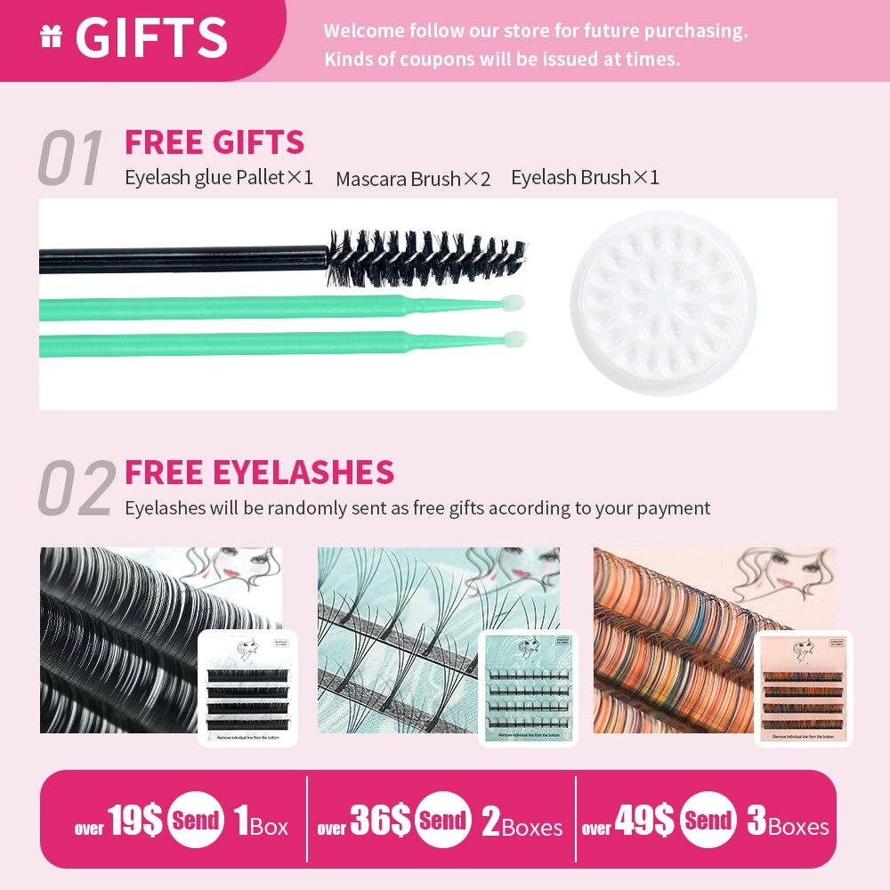 Купить ресницы gahamaca классические для макияжа ресницы индивидуальные